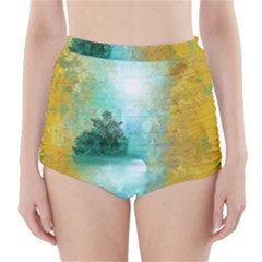 Turquoise River High Waisted Bikini Bottoms