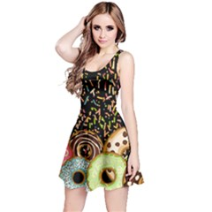 Colorful Sprinkle Donuts Reversible Sleeveless Dress