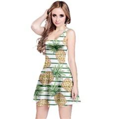 Green & Orange Pineapple Reversible Sleeveless Dress