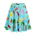 Beach Pattern High Waist Skirt View1