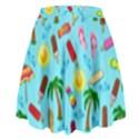 Beach Pattern High Waist Skirt View2