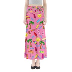 Beach Pattern Maxi Skirts