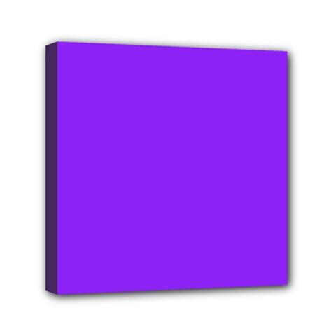 Neon Purple Solid Color  Mini Canvas 6  X 6