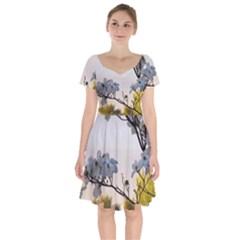 Morning Promise Short Sleeve Bardot Dress
