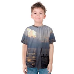 Sailing Into The Storm Kids  Cotton Tee