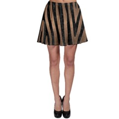 Skin4 Black Marble & Bronze Metal Skater Skirt
