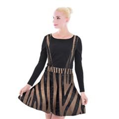 Skin4 Black Marble & Bronze Metal Suspender Skater Skirt