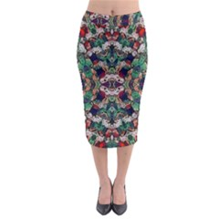 Antique wall Midi Pencil Skirt