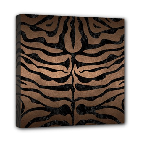 Skin2 Black Marble & Bronze Metal (r) Mini Canvas 8  X 8  (stretched)