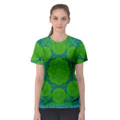 Summer And Festive Touch Of Peace And Fantasy Women s Sport Mesh Tee