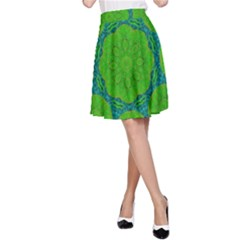Summer And Festive Touch Of Peace And Fantasy A Line Skirt