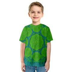 Summer And Festive Touch Of Peace And Fantasy Kids  Sport Mesh Tee