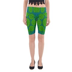 Summer And Festive Touch Of Peace And Fantasy Yoga Cropped Leggings