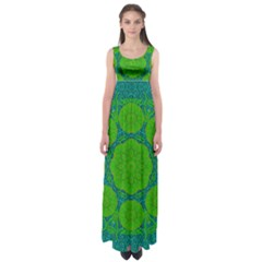 Summer And Festive Touch Of Peace And Fantasy Empire Waist Maxi Dress