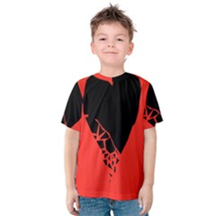 Broken Heart Tease Black Red Kids  Cotton Tee