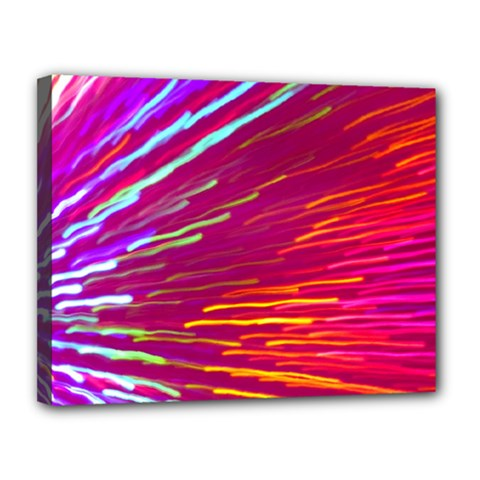 Zoom Colour Motion Blurred Zoom Background With Ray Of Light Hurtling Towards The Viewer Canvas 14  X 11