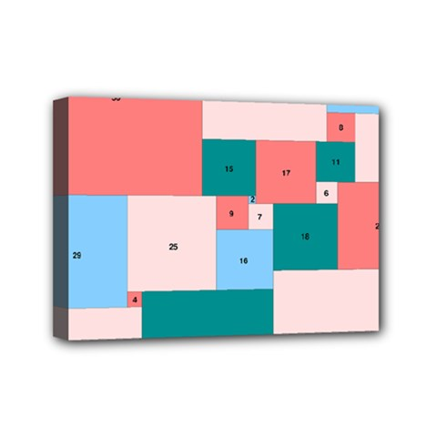 Simple Perfect Squares Squares Order Mini Canvas 7  X 5