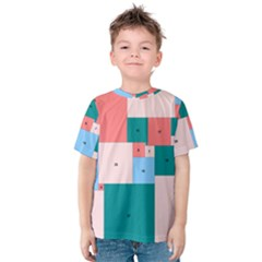 Simple Perfect Squares Squares Order Kids  Cotton Tee