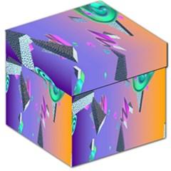 Triangle Wave Rainbow Storage Stool 12