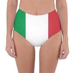 National Flag Of Italy  Reversible High Waist Bikini Bottoms