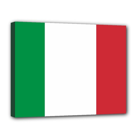 National Flag Of Italy  Canvas 14  X 11