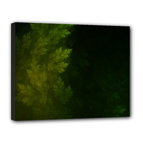 Beautiful Fractal Pines In The Misty Spring Night Canvas 14  x 11