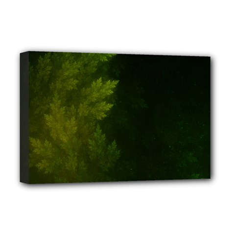 Beautiful Fractal Pines In The Misty Spring Night Deluxe Canvas 18  x 12