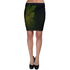 Beautiful Fractal Pines In The Misty Spring Night Bodycon Skirt