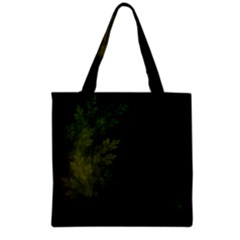 Beautiful Fractal Pines In The Misty Spring Night Grocery Tote Bag