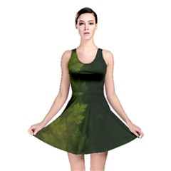 Beautiful Fractal Pines In The Misty Spring Night Reversible Skater Dress