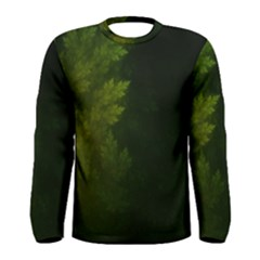 Beautiful Fractal Pines In The Misty Spring Night Men s Long Sleeve Tee