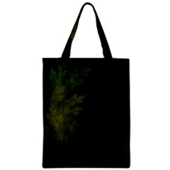 Beautiful Fractal Pines In The Misty Spring Night Zipper Classic Tote Bag