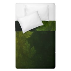 Beautiful Fractal Pines In The Misty Spring Night Duvet Cover Double Side (single Size)