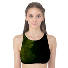 Beautiful Fractal Pines In The Misty Spring Night Tank Bikini Top