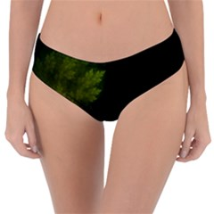 Beautiful Fractal Pines In The Misty Spring Night Reversible Classic Bikini Bottoms