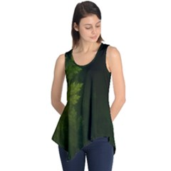 Beautiful Fractal Pines In The Misty Spring Night Sleeveless Tunic