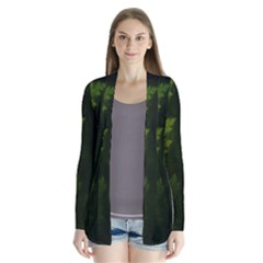 Beautiful Fractal Pines In The Misty Spring Night Cardigans