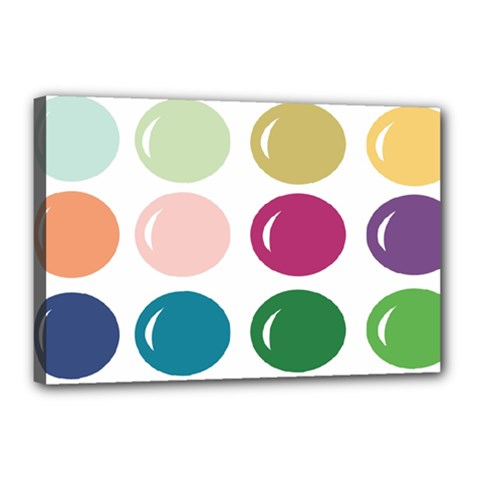 Brights Pastels Bubble Balloon Color Rainbow Canvas 18  X 12