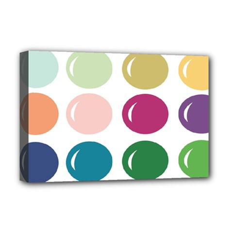 Brights Pastels Bubble Balloon Color Rainbow Deluxe Canvas 18  x 12