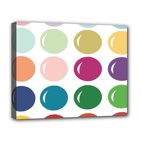 Brights Pastels Bubble Balloon Color Rainbow Deluxe Canvas 20  x 16