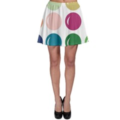 Brights Pastels Bubble Balloon Color Rainbow Skater Skirt