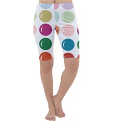 Brights Pastels Bubble Balloon Color Rainbow Cropped Leggings