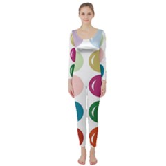 Brights Pastels Bubble Balloon Color Rainbow Long Sleeve Catsuit