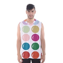 Brights Pastels Bubble Balloon Color Rainbow Men s Basketball Tank Top