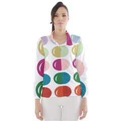 Brights Pastels Bubble Balloon Color Rainbow Wind Breaker (Women)