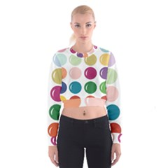 Brights Pastels Bubble Balloon Color Rainbow Cropped Sweatshirt