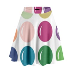 Brights Pastels Bubble Balloon Color Rainbow High Waist Skirt