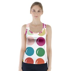 Brights Pastels Bubble Balloon Color Rainbow Racer Back Sports Top