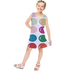 Brights Pastels Bubble Balloon Color Rainbow Kids  Tunic Dress