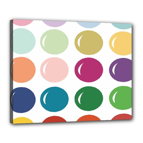 Brights Pastels Bubble Balloon Color Rainbow Canvas 20  x 16